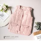 粉嫩鋪棉保暖鈕釦背心 保暖 點點內裏 甜...