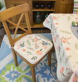 雙面田園風加厚墊子柔軟海綿椅墊辦公室坐墊學生餐廳椅子墊餐椅墊 艾尚旗艦店