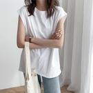 港風背心女夏外穿潮2021新款韓版寬鬆bf風夏季坎肩無袖T恤女上衣