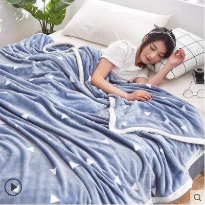 夏季珊瑚毯子床單人午睡空調沙髮小被子夏天薄款毛巾蓋法蘭絨毛毯 LX 潮人女鞋