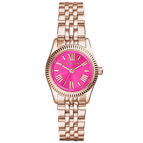 Michael Kors 幸福低喃時尚都會腕錶-粉