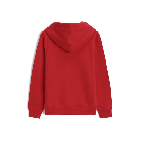 Gap女裝 Logo印花連帽長袖衛衣 495412-正紅色