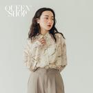 Queen Shop【01023728】大理石紋長袖雪紡襯衫*現+預*