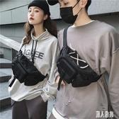 戰術胸包男多功能女潮運動包小背包潮流款工裝風單肩斜挎包 LR22155『麗人雅苑』