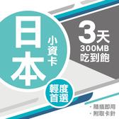 日本上網卡 3天 無限流量吃到飽 即插即用 Softbank電信 4G上網 吃到飽上網SIM卡 網路卡 漫遊卡