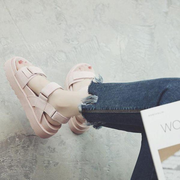 2017新款韓版百搭松糕涼鞋LVV4821【KIKIKOKO】