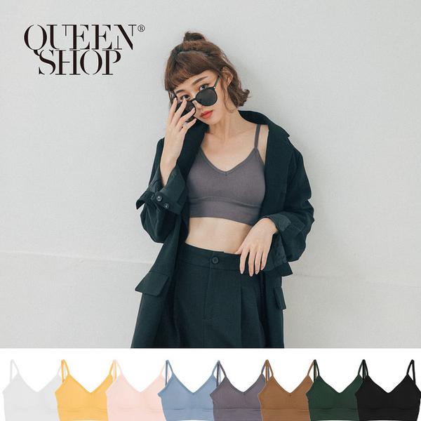 Queen Shop【01041577】附罩杯後交叉造型細肩背心 八色售*現+預*