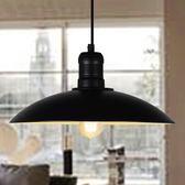 快速出貨-北歐簡約loft復古工業風餐廳吧台咖啡廳倉庫創意單頭鐵藝鍋蓋吊燈 萬聖節