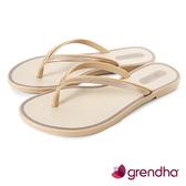 GRENDHA 金屬質感時尚極簡夾腳鞋-金色