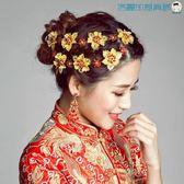 雙十一預熱新娘頭飾古裝秀禾服頭飾中式髮飾【洛麗的雜貨鋪】