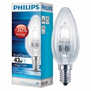 PH蠟燭省電鹵素燈 E14 42 瓦CL