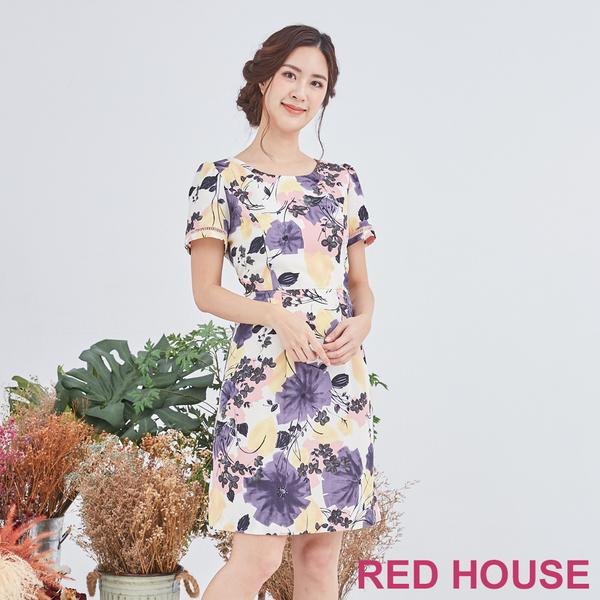 RED HOUSE 蕾赫斯-花布洋裝(共2色)