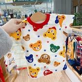 太火啦,現貨發!【彩色熊星星】21夏男女童幼兒園全棉短袖T恤 幸福第一站