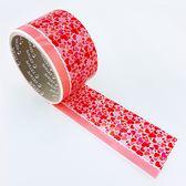 【ESTAPE】裝飾封箱膠帶|心花朵朵(12mm 無膠不黏手/55mm x 12M/)