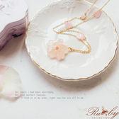 項鍊 櫻花造型長項鍊-Ruby s露比午茶