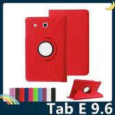三星 Tab E 9.6 T560 旋轉360度保護套 皮紋側翻皮套 多層支架 鬆緊帶 平板套 保護殼
