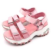 《7+1童鞋》中大童 SKECHERS  664075LLTPK   輕量 防水   運動涼鞋  C920  粉色