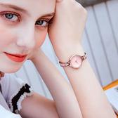 金米歐腕錶女士防水石英手錶女生學生2019時尚新款潮流手鍊錶女錶WY