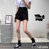 牛仔短褲~ 夏季2021新款高腰牛仔褲顯瘦百搭直筒褲寬鬆白色短褲女夏寬鬆褲子