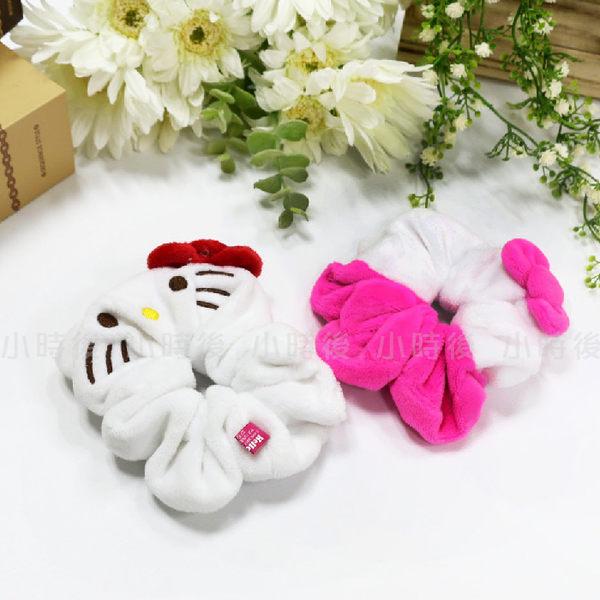 ☆小時候創意屋☆ 三麗鷗 正版授權 Hello Kitty 粉 絨毛 髮圈 髮帶 大腸圈 婚禮小物 雙子星 蛋黃哥