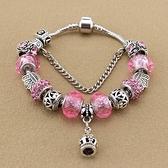串珠手環-甜美公主風水晶飾品粉色系列女配件73kc462【時尚巴黎】