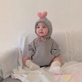 秋冬嬰兒套頭連帽衛衣哈衣男女寶寶可愛包屁衣【聚可愛】