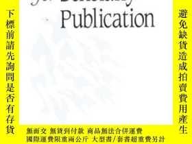 二手書博民逛書店Writing罕見For Scholarly PublicationY256260 Huff, Anne Si