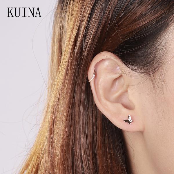 素簡手作玫瑰金夾式耳環 18k金耳夾 醫療鋼耳環 防過敏耳針 無耳洞耳環 現+預【RSE015】