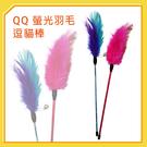 【力奇】QQ 螢光羽毛逗貓棒 (WE210050) -50元 可超取 (I002F19)