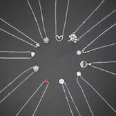 S925純銀項鍊氣質簡約百搭學生森系韓版鎖骨鍊頸鍊禮物女梗豆物語