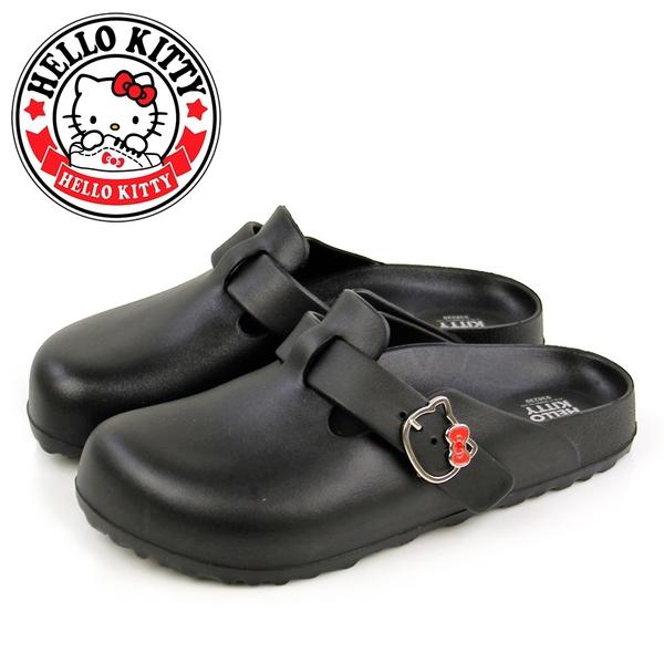 N-21002 凱蒂貓飾釦輕量防水前包後空拖鞋/穆勒鞋【HELLO KITTY 】