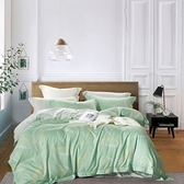 歐亞之星/吸濕排汗天絲全鋪棉床包兩用被四件組/雙人/羽尾