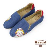 Paidal x Rascal小小浣熊水手休閒鞋樂福鞋懶人鞋-牛仔藍
