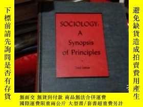 二手書博民逛書店sociology;罕見a synopsis of princi