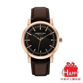 Kenneth Cole 經典簡約紳士皮帶腕錶 KC10030809 玫瑰金x咖啡
