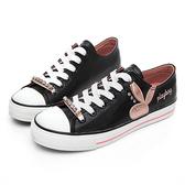 PLAYBOY 繽紛世界 可拆鞋帶釦休閒鞋-黑(Y5705黑)