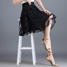 網紗裙 夏裝半身裙寬鬆顯瘦大碼氣質短裙正韓網紗女裝-Ballet朵朵