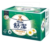 舒潔特級舒適潔淨(洋甘菊)抽取式衛生紙88抽8包