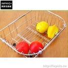 INPHIC-有瀝水腳不鏽鋼不鏽鋼碗碟盤架瀝水籃伸縮洗菜廚房置物架水槽_DZJK