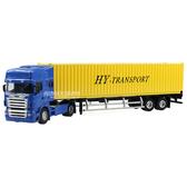 HY TRUCK華一 5012-23B集裝箱卡車/黃 工程合金車模型車 貨櫃車 聯結車(1:50)【楚崴玩具】
