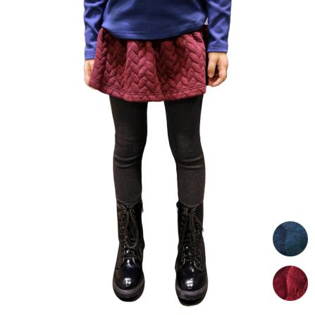稻穗壓紋裙邊內搭褲假兩件式 褲裙  橘魔法 magic baby 現貨 女童褲 兒童 童裝 大童