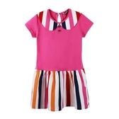 『小鱷魚童裝』小圓領條紋洋裝(08號~16號)533357