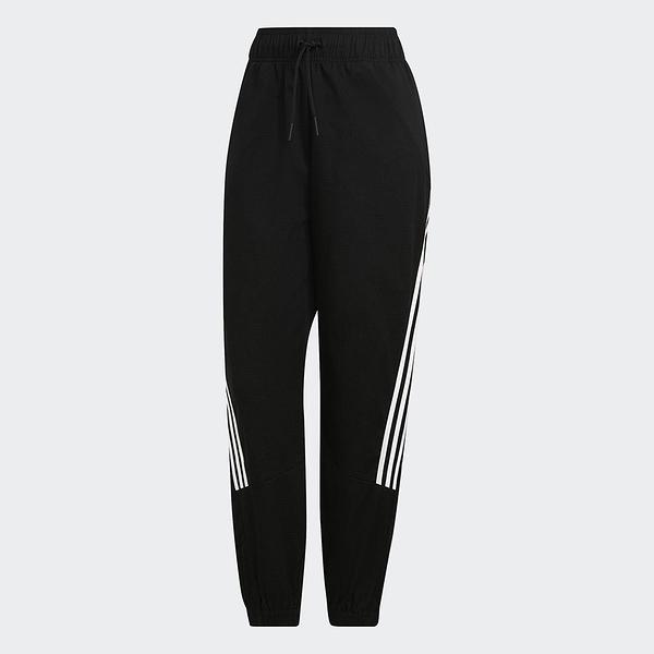 Adidas FUTURE ICONS 女裝 長褲 套裝 鬆緊 休閒 拉鍊口袋 黑【運動世界】H21575