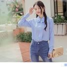 《AB11850-》純色荷葉壓褶造型長袖...