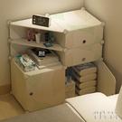 【免運】宿舍簡易塑料床頭柜櫃組裝儲物柜櫃簡約現代經濟型小收納柜櫃子床邊臥室