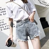 牛仔短褲女夏季薄款高腰寬鬆a字潮ins寬管韓版2021年新款熱褲 【七七小鋪】