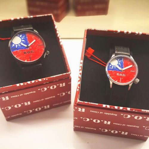 【促銷】愛國策- 塗鴉國旗系列商品-國旗手錶、情侶對錶-(男錶/女錶) -禮盒包裝送禮時尚!(一入)