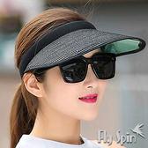 遮陽帽子-抗UV防紫外線紙草編防曬空心帽15SS-V018 FLYSPIN菲絲品