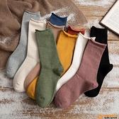 5雙裝 純色長襪子女中筒襪薄款堆堆襪潮日系月子襪長筒品牌【小桃子】