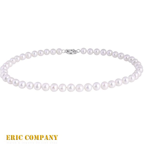 【EM eileen me】日本寶石鑑定DPS專業認證 約9~10mm~天然純白珍珠項鍊